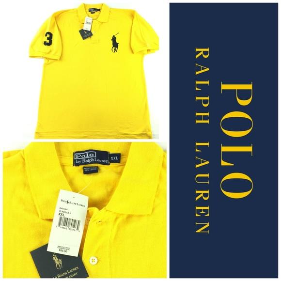 Polo Ralph Lauren Big Pony Shirt Sz XXL 2X Yellow